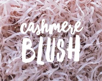 Cashmere Blush Shredded Tissue Paper Box Filler Dusty Pink Hamper Gift Basket Acid-free Colourfast