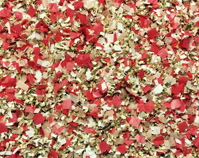 Red Gold Champagne Ivory Confetti Guest Packs Biodegradable Colourfast Throwing Bridal Shower InsideMyNest (25 Guests)