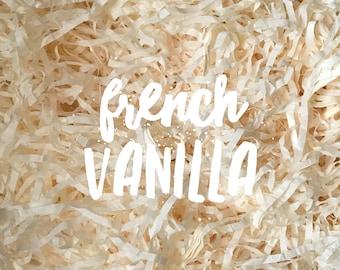 French Vanilla Cream Shredded Tissue Paper Shred Box Filler Hamper Gift Basket Filler Acid-free Colourfast
