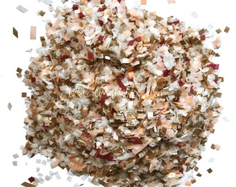 White Rose Gold Peach Burgundy Confetti Wedding Party Decoration Biodegradable Eco Bulk Wholesale Throwing