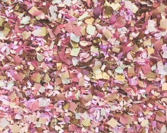 Dusty Rose Peach & Rose Gold Confetti Mix (Biodegradable) Wedding Party Decorations