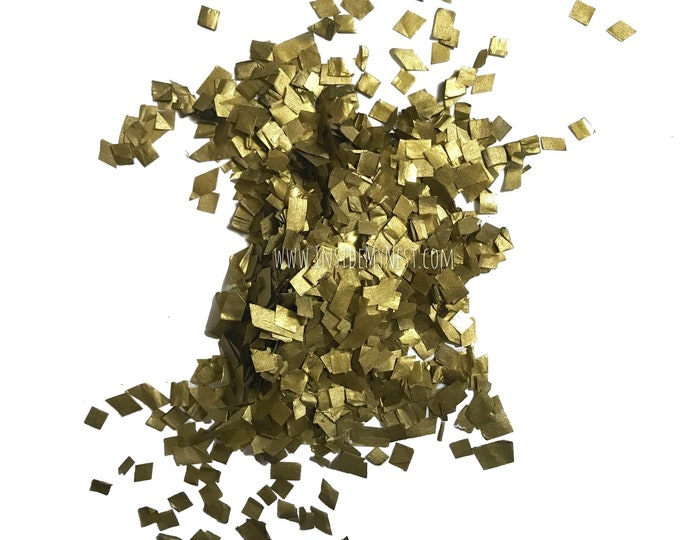 Metallic Gold Confetti Sprinkles Biodegradable Eco Friendly Colourfast (100 Grams)