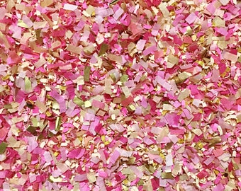 Pink & Gold Confetti Biodegradable Gender Reveal It's A Girl Baby Shower Wedding Party Throwing InsideMyNest (25 Guests)