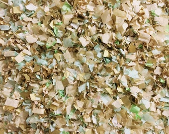 Mint Ivory Gold Confetti Biodegradable Wedding Party Decorations InsideMyNest (25 Guests)