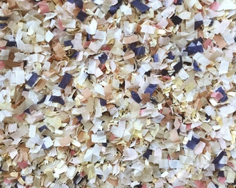 Blush Navy Blue Champagne Ivory Biodegradable Confetti Wedding Send Off Throwing Confetti Tissue Paper