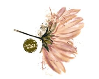 DIGITAL Peach Rose Gold Watercolour Flowers Clipart Floral Clip Art Downloadable Printable PNG 300dpi DIY Craft Art Baby Girl Wedding