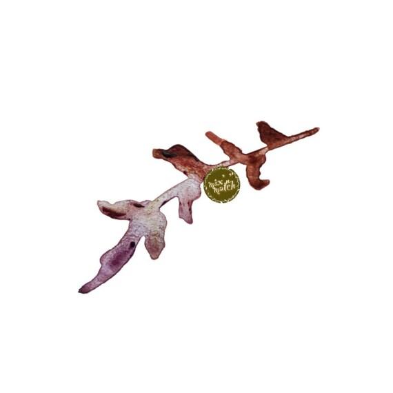 DIGITAL Purple Pink Rust Multicoloured Watercolour Leaf Clipart Logo Download PNG 300dpi DIY Craft Scrapbooking Invitation Card Making