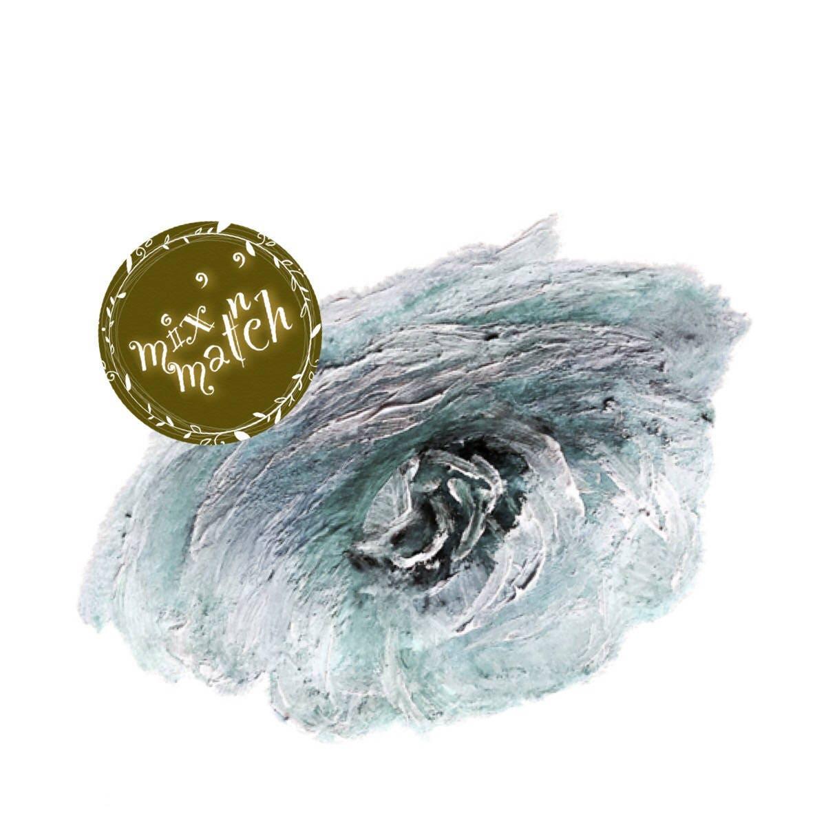 Duck Egg Blue Flower Clip Art Watercolour Digital Wedding Clipart