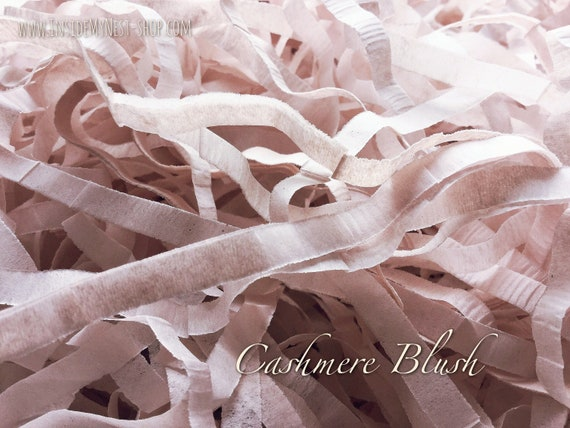Cashmere Blush Shredded Tissue Paper Box Filler Dusty Pink Hamper Gift Bulk Wholesale Acid-free Colourfast (Box of 500g)