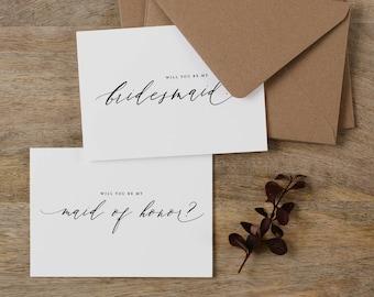 Will You be My Bridesmaid Card, Bridesmaid Proposal, Maid of Honor Card, Will You Be My Maid of Honor, Bridesmaid Card, Bridal Cards, K6