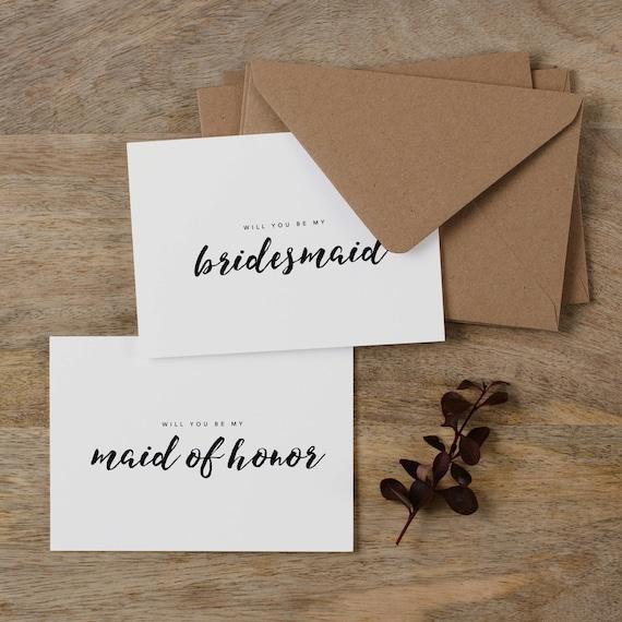 Maid Of Honor Card Bridesmaid Proposal Card Wedding K7 Personalised Bridesmaid Card Will You Be My Bridesmaid Card Custom Bridesmaid Card