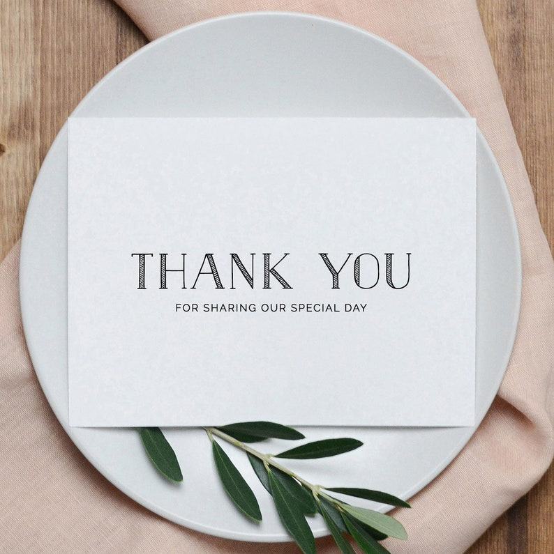 5 x  Wedding Thank You Cards Wedding Thank You Cards Newlyweds Thank You Cards K5 Thank You For Sharing Our Special Day With Us