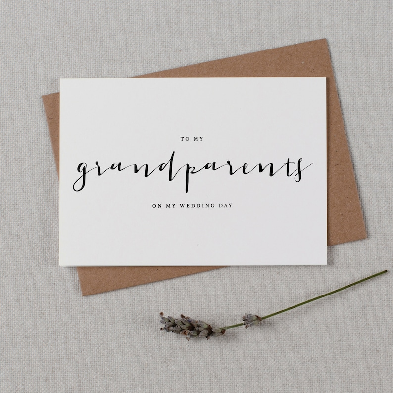 Wedding Card To My Grandparents Wedding Day Thank You Wedding Card To My Grandparents Wedding Card Wedding Note K4 Wedding Stationery