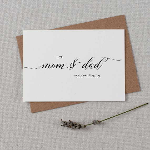 To My Dad Parents Wedding Card To My Father Wedding Card Dad On My Wedding Day Wedding Card To My Mom Wedding Note,K10 To My Mom Card