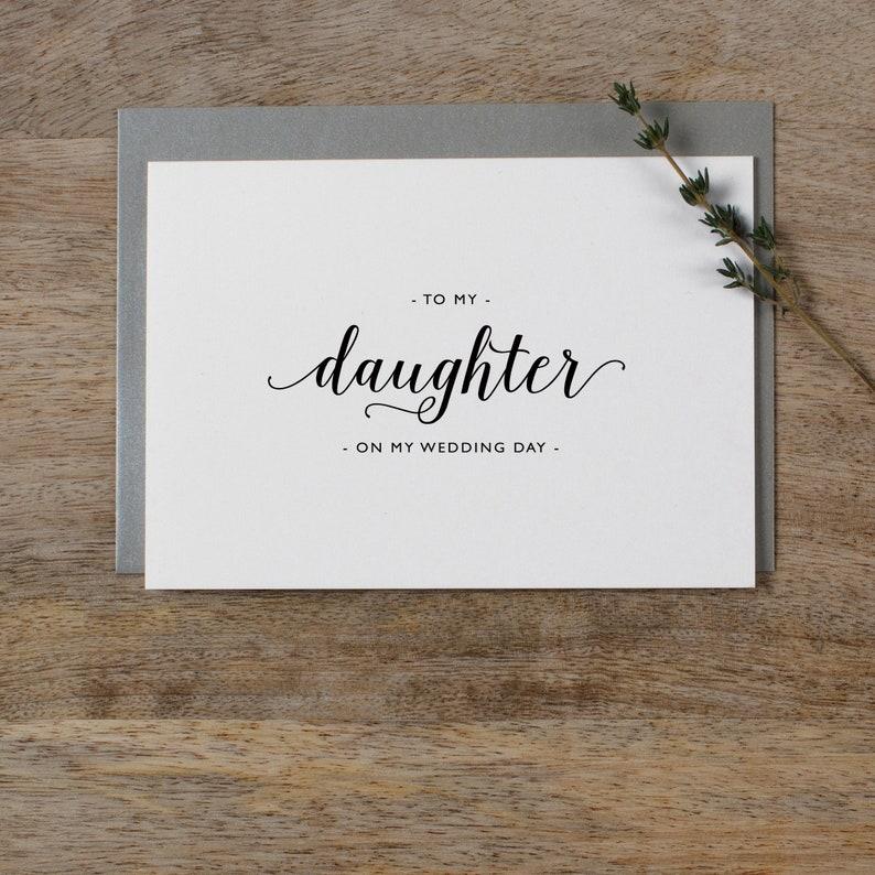 Dank Aan Mijn Dochter Op Mijn Bruiloft Dag Kaart Dochterkaart Bruiloft Bruiloft Briefpapier Met Mijn Dochter Je Bruiloft Kaart Bruiloft