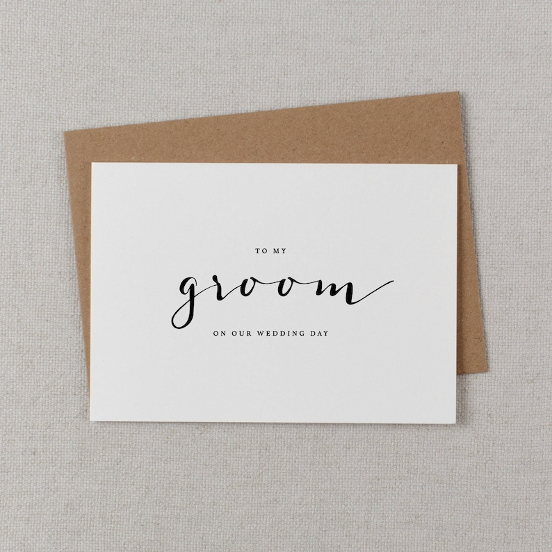 To My Groom On Our Wedding Day Wedding Day Card Future Husband Card Wedding Cards K4 I Can/'t Wait To Marry You Wedding Card to Groom