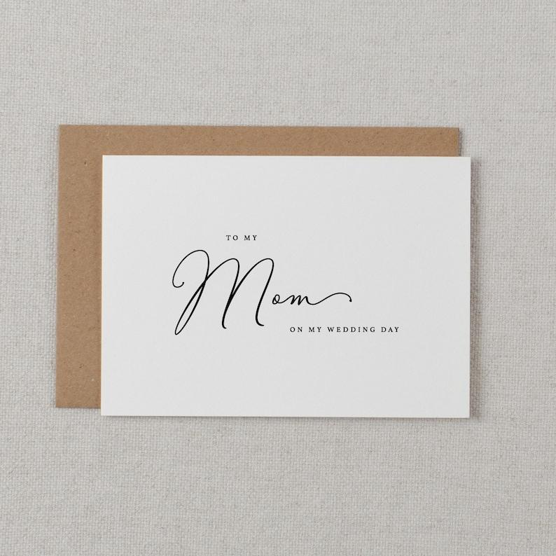 Wedding Card To My Mom Wedding Day  To My Mother Wedding image 0