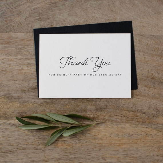 Wedding Thank You Po Cards | 5 X Thank You For Being A Part Of Our Special Day Wedding Etsy