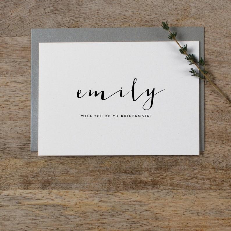 Custom Bridesmaid Card Will You Be My Bridesmaid Card Personalised Bridesmaid Card Maid Of Honor Card Bridesmaid Proposal Card Wedding K4