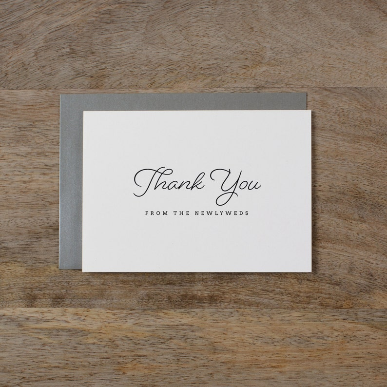 5 x Thank you from the Newlyweds Wedding Guest Thank You Wedding Thank You Card Newlyweds Wedding Card Wedding Thank You Cards K1