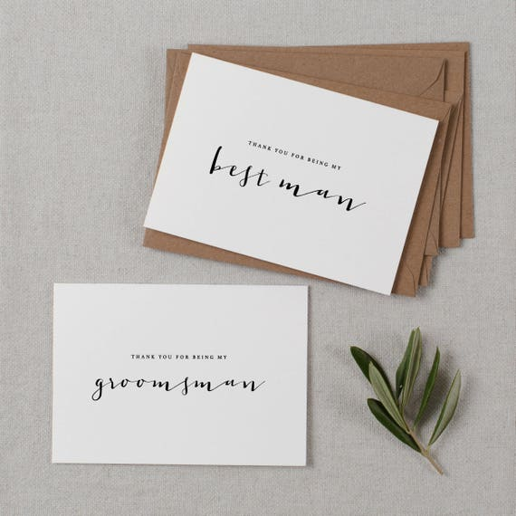 FPS0016 Wedding Thank You Cards - Thank You For Being My Usher Card Wedding Card Thank You For Being Our Usher Card