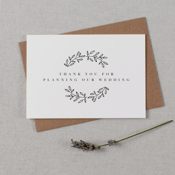 Thank you for Planning our Wedding Card for Wedding ... |Planning Our Wedding