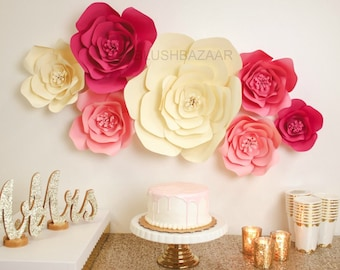 large paper flowers etsy