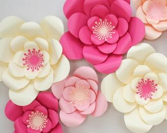 Large paper flowers etsy mightylinksfo
