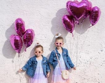 Fuchsia Mylar Heart Balloon - Hot Pink Balloons, Pink Party Balloons, Rose Gold Heart, Valentine's Day Decor, Rose Gold Balloon Garland