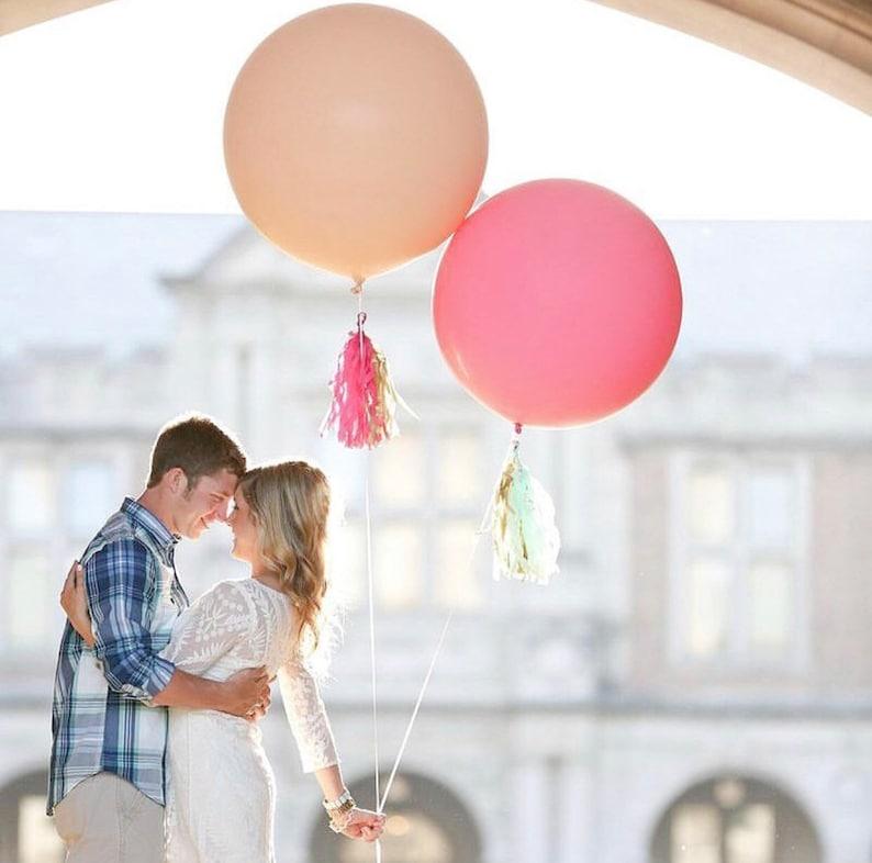 36 Inch Jumbo Round Coral Balloon- 36 Inch Giant Balloon, Coral Bridal  Shower, Wedding Balloons, Bridal Shower Balloons, Baby Shower Balloon