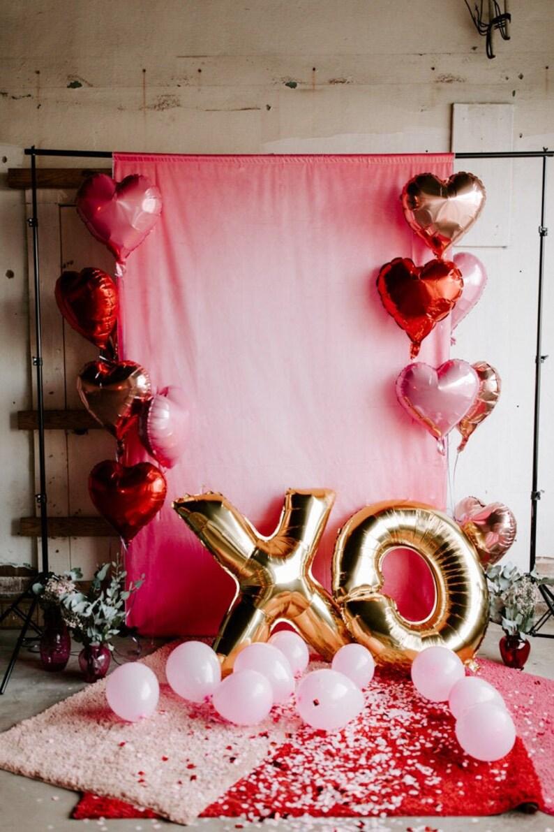 Pastel Pink Mylar Heart Balloon  Pastel Pink Balloons Pink image 0