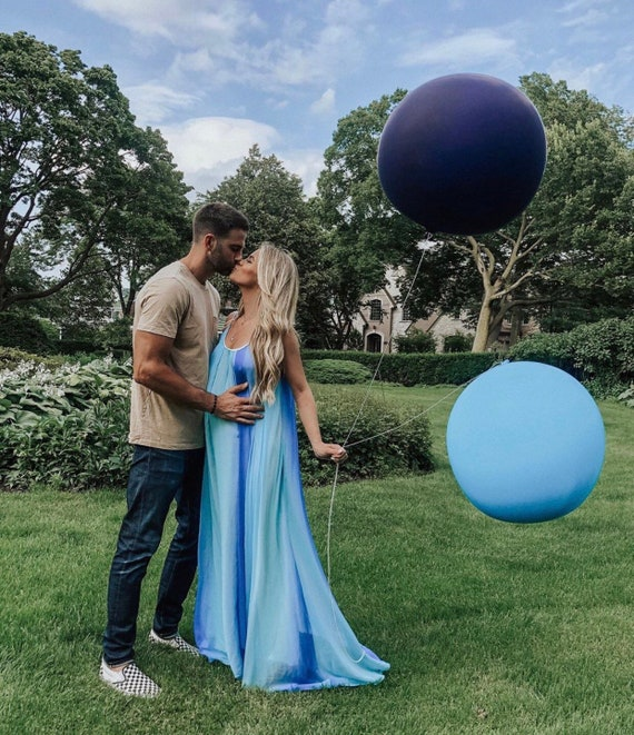 36 Inch Round Light Blue Balloon 3 Feet Giant Balloon Light Blue Baby Shower Balloon Blue Party Decor Blue Gender Reveal Party Decor By Blush Bazaar Catch My Party