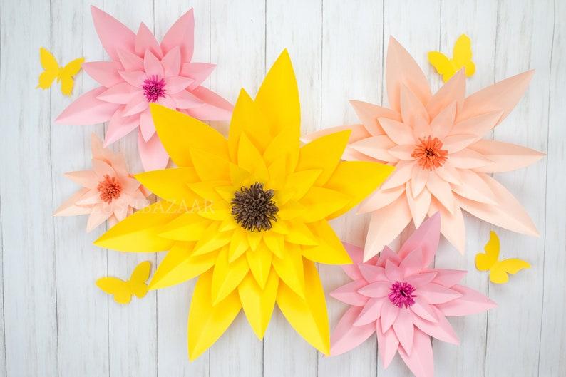 Large Medium Or Small Paper Flower Large Paper Flower Fully Assembled Paper Flower Decor Giant Paper Flower Flower Backdrop Decor