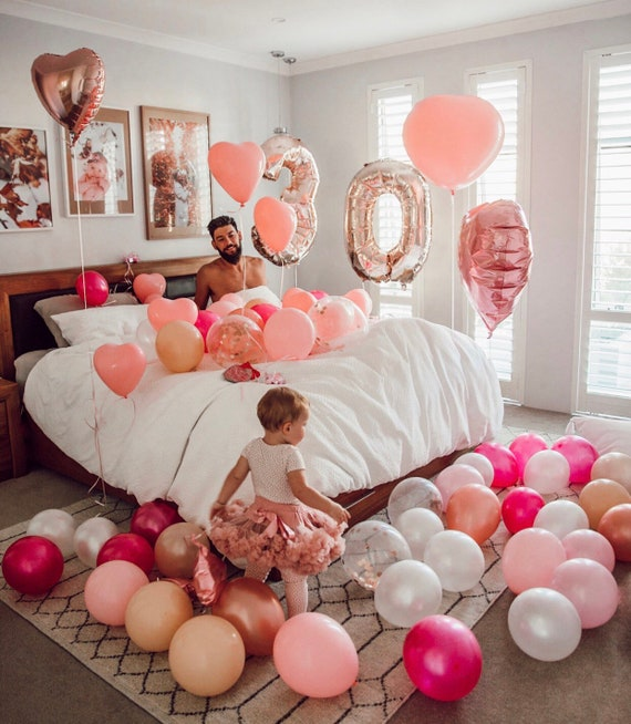 30th Birthday Balloons Rose Gold Number 30 Dirty Anniversary Giant