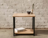 The Watson End Table - Maple with Black Powder Coated Steel -Side Table, Free Shipping