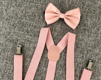 76f235fea96a Bow tie and suspenders, bow tie, suspenders, blush pink suspenders, blush  pink bow tie, blush pink wedding, pink bow tie, blush wedding