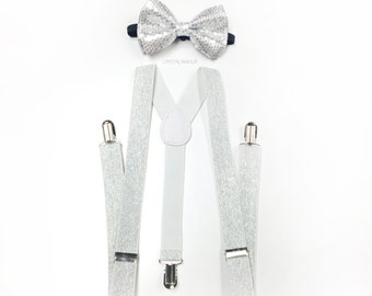 ad45308cbea silver bowtie and suspenders set