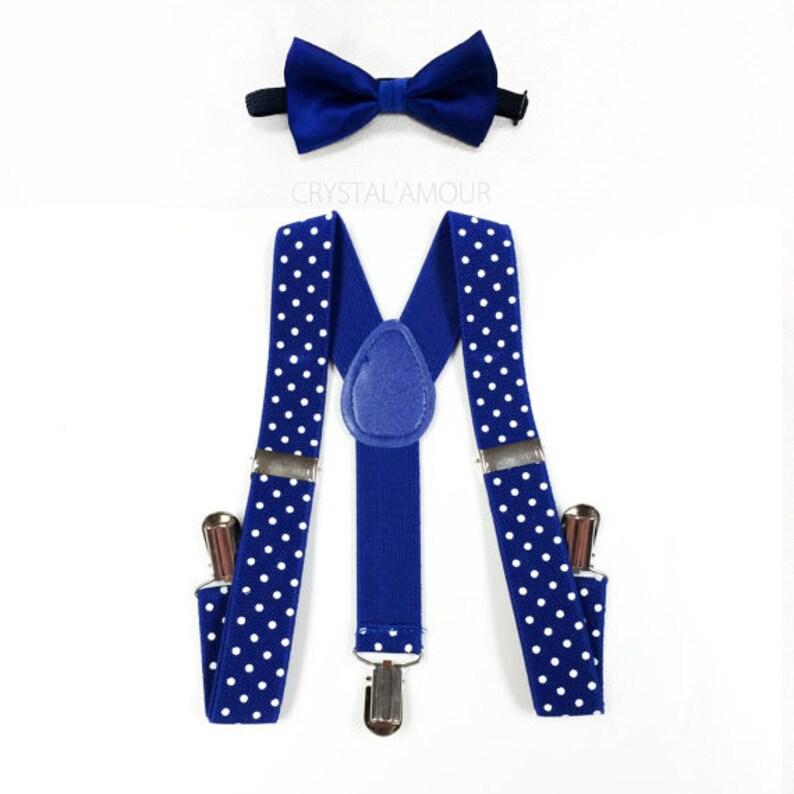 bdc583370 Bodas de pajarita y tirantes tirantes bowtie de niño azul