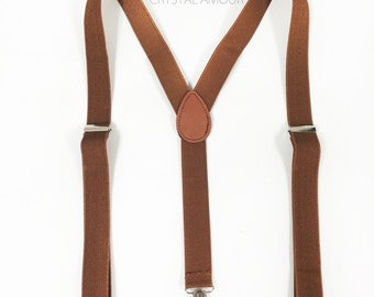 Vintage inspired men's suspenders and bowtie set - plaid bow tie with tan suspenders for ages 6+, barn wedding, barnyard birthday