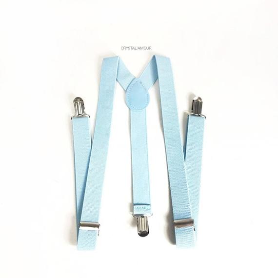 Mens Suspenders Baby Blue Suspenders Powder Blue Suspenders Etsy