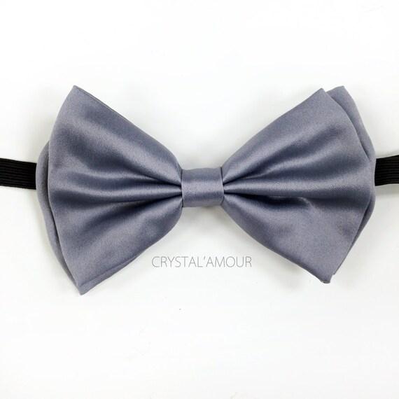 Gris noeud papillon - smoking Gris noeud papillon - réglable Bow cravates pour hommes, femmes, adolescents, enfants - unisexe p...