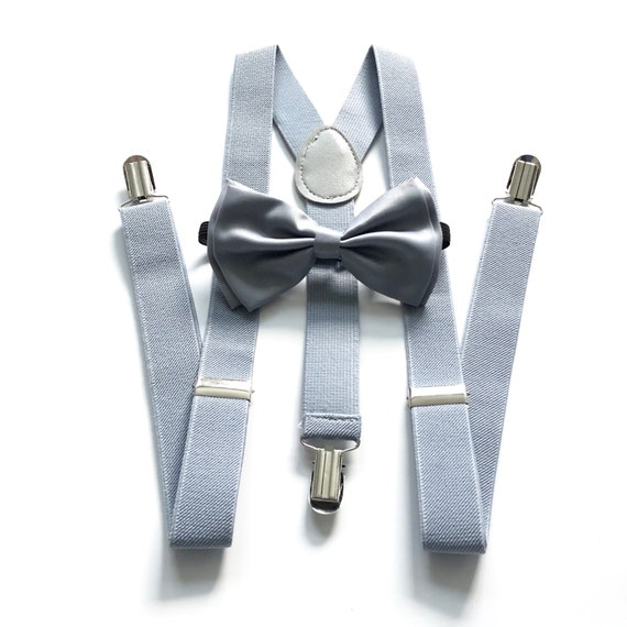 Toddler bow tie Dusty blue braces and bow tie for babytoddler Men/'s wedding suspenders Dusky blue bow tie /& suspenders for men and boys