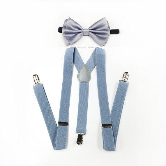 top design chaussures exclusives dernière remise bretelles pour homme, bretelles bleu poussiéreux, clair noeud papillon  gris, vieux bleu, clair gris bretelles, bretelles homme, bretelles gris, ...
