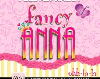 Fancy Nancy alphabet, fancy nancy clipart, disney serie alphabet, disney clipart