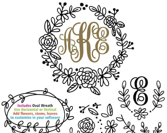 Wreath svg, flower svg, svg bundle, floral wreath svg,  circle wreath, oval wreath, wreath svg, laurel wreath svg, wedding sign