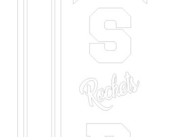 graphic relating to Rocket Template Printable named Rocket template pdf Etsy