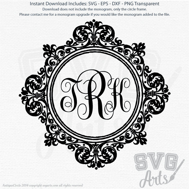 Antique Circle Border - SVG - EPS - DXF & Png Graphic