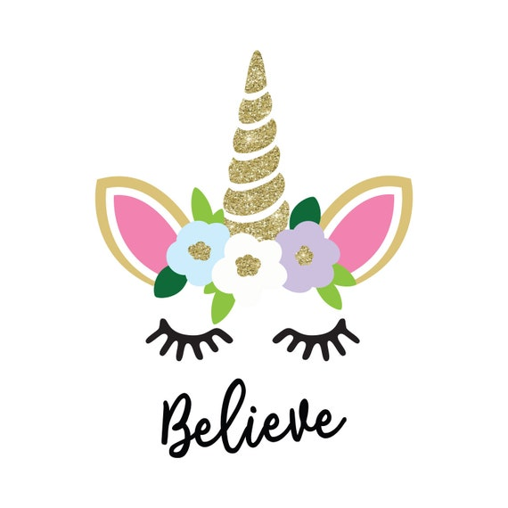 Unicorn svg, unicorn cut file, cute eyelashes svg,  cute flowers svg, unicorn pdf, unicorn eps