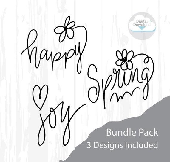 Happy SVG, Spring SVG, Joy SVG, Feel Good svg, Mindfulness sign, Life is Happy, Smile svg, joy svg, spring svg, summer svg, t-shirt svg