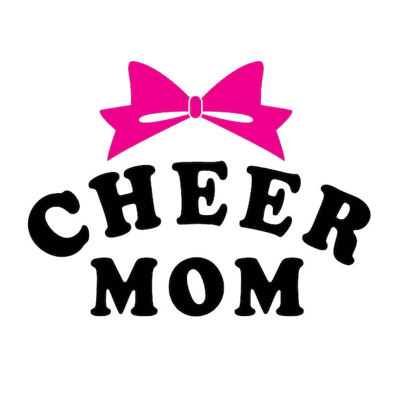 Cheer Mom and Bow SVG - Cute SVG Cut File - Cheer SVG